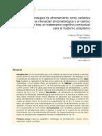 Estrategias de afrontamiento como variables predictivas de la intensidad sintomatológica y el cambio clínico tras un tratamiento cognitivo-conductual para el trastorno adaptativo