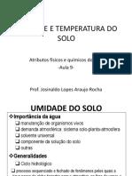 AULA 9_UMIDADE E TEMPERATURA DO SOLO