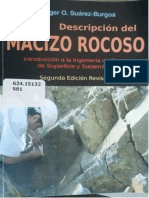 DESCRIPCIÓN DEL MACIZO ROCOSO-LUDGER O. SUAREZ BURGOA