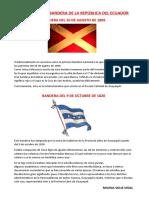 HISTORIA DE LA BANDERA DE LA REPÚBLICA DEL ECUADOR