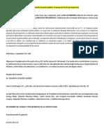 Sentencias Ley de Presupuesto FIPU