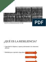 RESISTIR EN LA DIFICULTAD