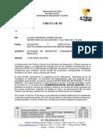 CIRCULAR 101 CONMEMORACION DIA DEL MAESTRO