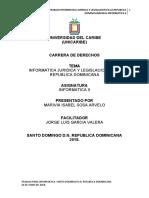 INFORMATICA JURIDICA Y LEGISLACION EN LA REPUBLICA DOMINICANA.docx