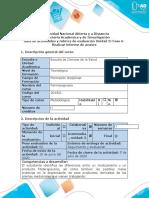 Guía de actividades y rúbrica de evaluación - Fase 6 - Informe de avance