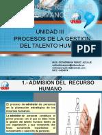 UNIDAD III GESTION DE RECURSOS HUMANOS