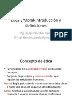 Ètica y Moral-Introducciòn y Definiciones