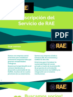 DESCRIPCION DEL SERVICIO DE RAE