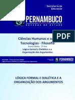 Lógica formal e Dialética e a Organização dos Argumentos.ppt