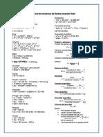 Formulario de mecánica de fluidos (examen final)