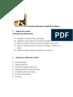 Conceptos generales de legislación laboral