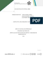 Preinstalacion sistema base de datos