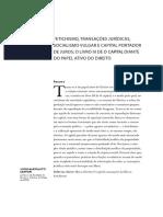 2019 - Sartori_Fetichismo, transações jurídicas, socialismo vulgar e capital portador de juros, o Livro III de O Capital.pdf