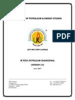 M.Tech Petroleum Engineering