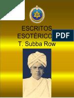 ESCRITOS ESOTÉRICOS-T. SUBBA ROW