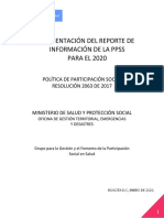 1. PRESENTACIÓN DEL REPORTE DE INFORMACIÓN DE LA PPSS PARA EL 2020 (00000002) (1)