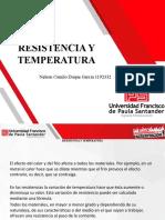 resistencia y temperatura