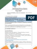 Guia de actividades y Rúbrica de evaluación - Paso 4 - Personal Branding