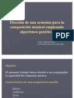 Elección de una armonía para composición musical con algoritmos genéticos