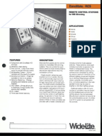 Wide-Lite ZoneMate RCS Dimming Control Stations Bulletin 1987