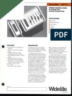 Wide-Lite ZoneMate VIP-IV Dimmer Control Panel Bulletin 1986