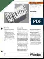 Wide-Lite ZoneMate VIP-IV Dimmer Control Panel Bulletin 1987