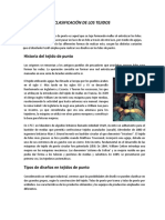 CLASIFICACIÓN DE LOS TEJIDOS