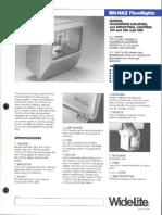 Wide-Lite BM-HAZ Floodlight Hazardous Bulletin 1985