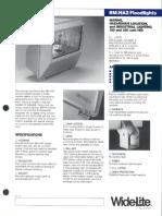 Wide-Lite BM-HAZ Floodlight Hazardous Bulletin 1987
