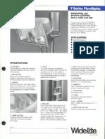 Wide-Lite F Series Floodlight Bulletin 1984