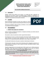 GUIA DE ELABORACION DE ORIFICIOS DE ANCLAJE Y APLICACION GROUTING