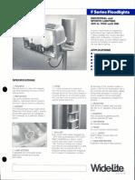 Wide-Lite F Series Floodlight Bulletin 1988