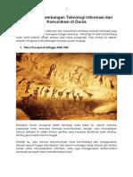 Sejarah Perkembangan Teknologi Informasi Dan Komunikasi Di Dunia