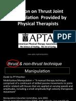 PositiononThrustJointManipulation