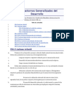 F84 Trastornos Generalizados del Desarrollo