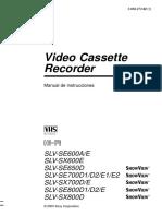 Manual VCR S o n y
