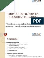 Proyectos Industrias Creativas 1
