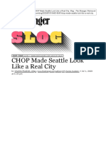 The Stranger - C. Mudede - CHOP Made Seattle Look Like a Real City (Jul. 01, 2020)
