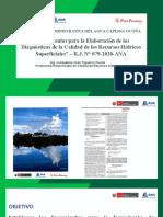 Lineamientos y Supervisión de Calidad de Agua