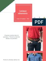 Lexique vêtements