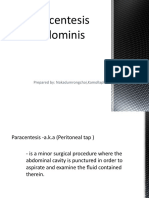 22. Paracentesis Abdominis