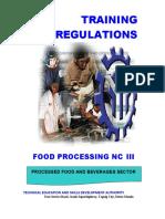 Food processing NC III