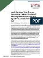 Multibandgap solar energy converstion