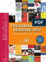 Freshman Year Reading 2011 Catalog