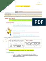 Ficha de Actividades - Tutoría - s10 09-06-2020