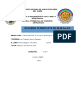 COntrol ambiental Transporte minerales