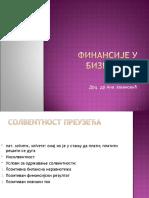 Finansije u biznisu - Predavanja 12