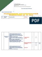 PLANIFICARE VIII 2019-2020 sem II
