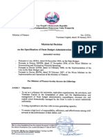 1501 MoF_Ministerial decision on budget expenditure (DSA)_Eng