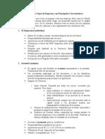 Resumen de los Tipos de Empresa y sus Principales Características